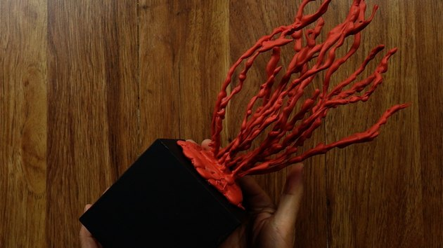 Finished DIY faux coral sculpture.