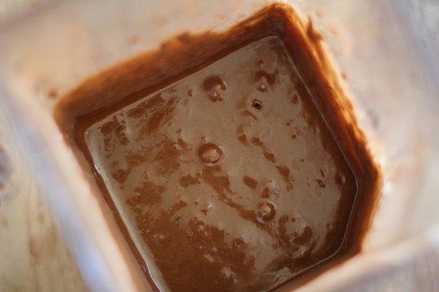 Brownie batter in a blender.