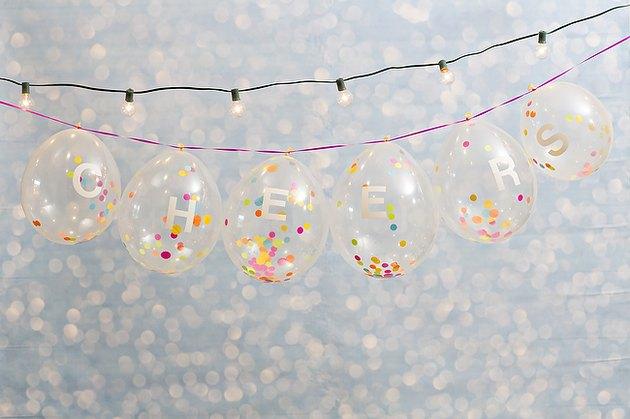 Confetti balloon banner