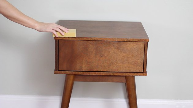 Sanding the nightstand