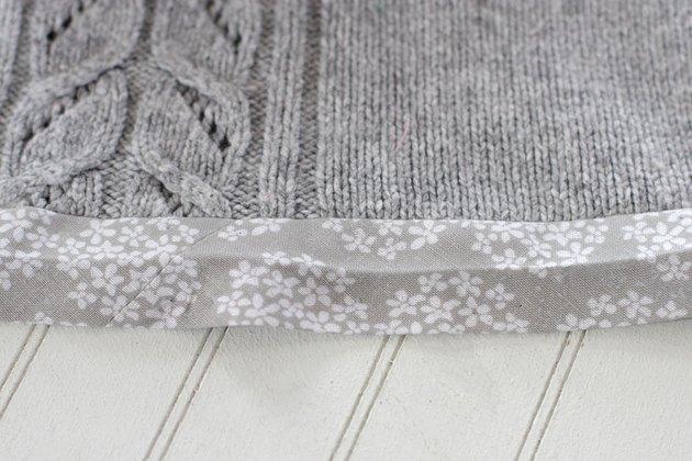 fold bias tape around raw edge