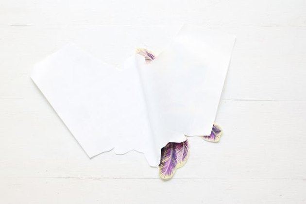 Separate the paper backing