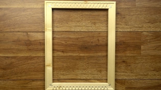 Finished DIY simple frame loom.