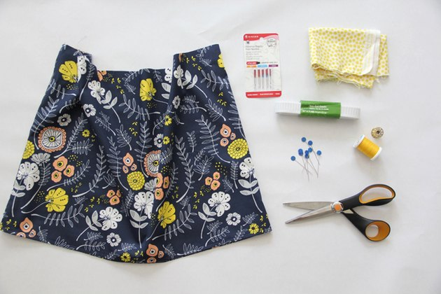 Materials needed for sewing an elastic waistband