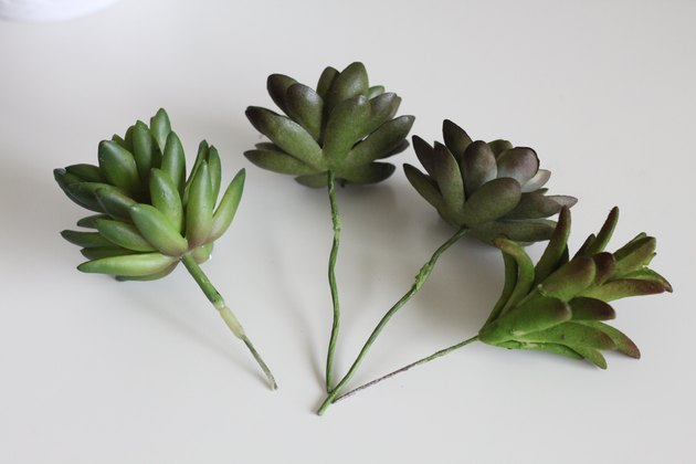 Faux succulents stripped down to the wire