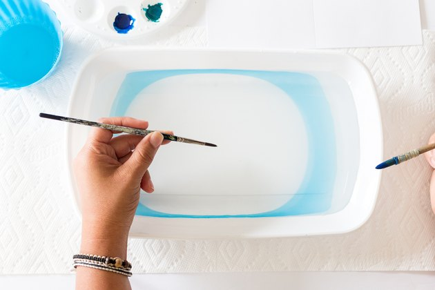 Ink marbling in water