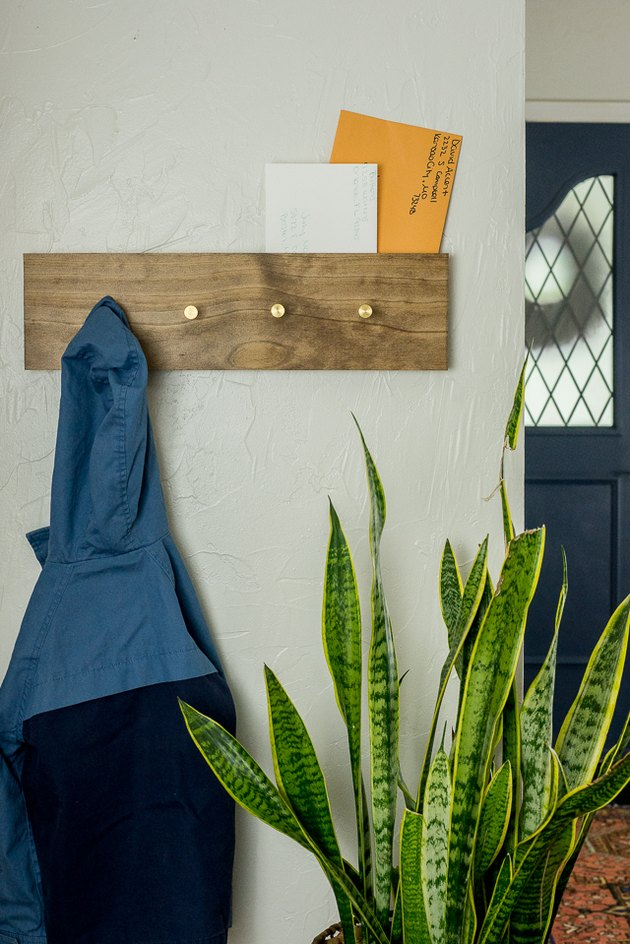 Coat rack with mail slot