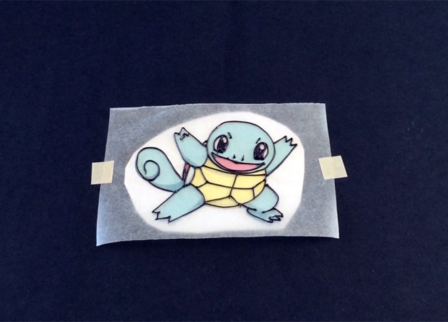 Squirtle lollipop outlined