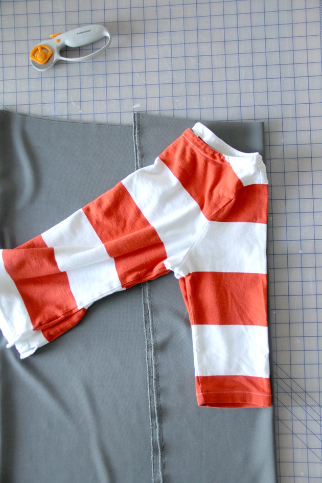 Cut out a sleeve pattern from an existing T-shirt