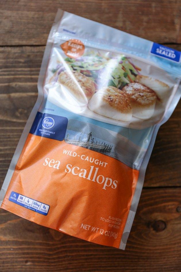 bag of wild-caught sea scallops