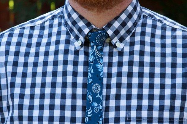 finished skinny tie