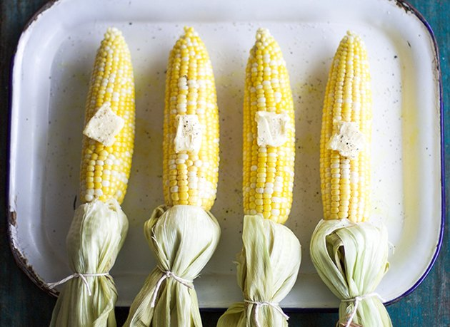 Baked Moist Corn on the Cob
