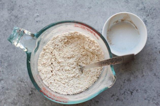 flour, baking soda, salt in a measuring cup