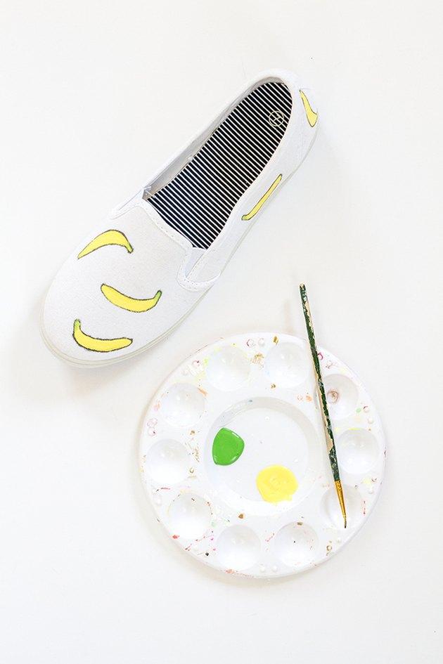 paint fruit shoes green