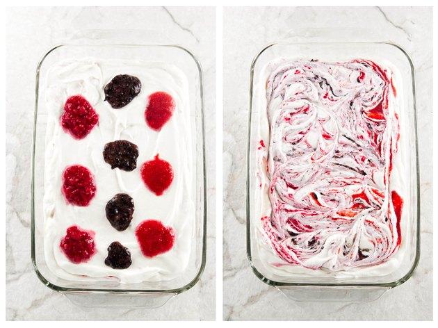 Berry swirled ice cream
