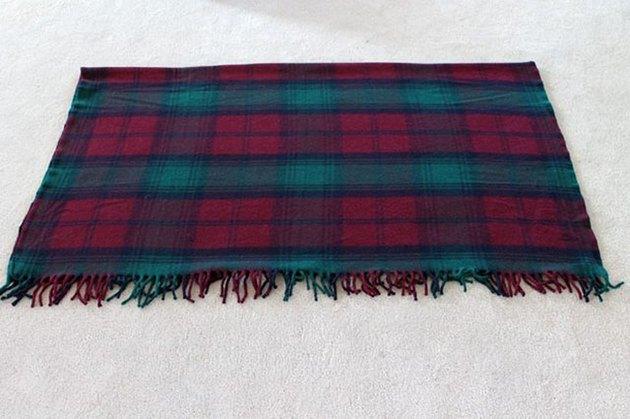 fold blanket in half