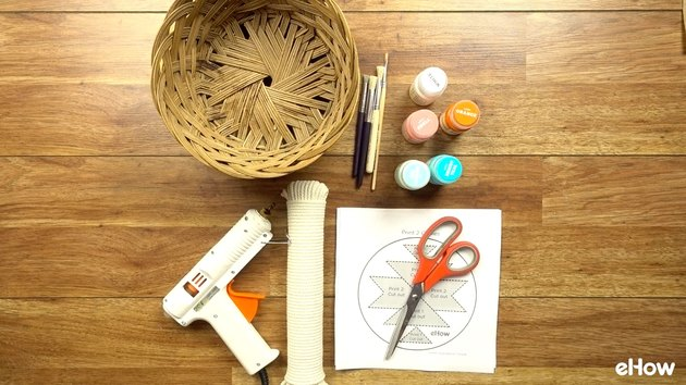 Materials for DIY Desert-Style Baskets.
