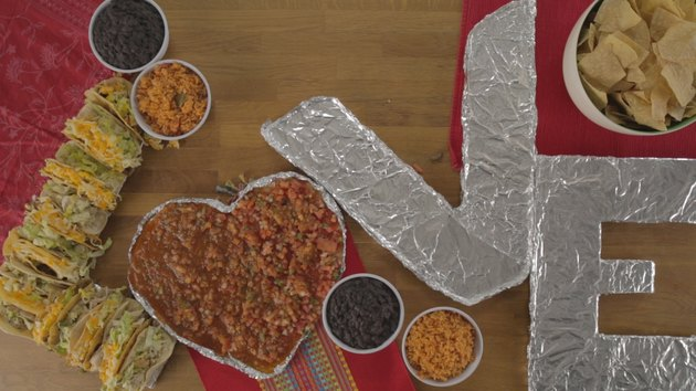 Heart filled with salsa.