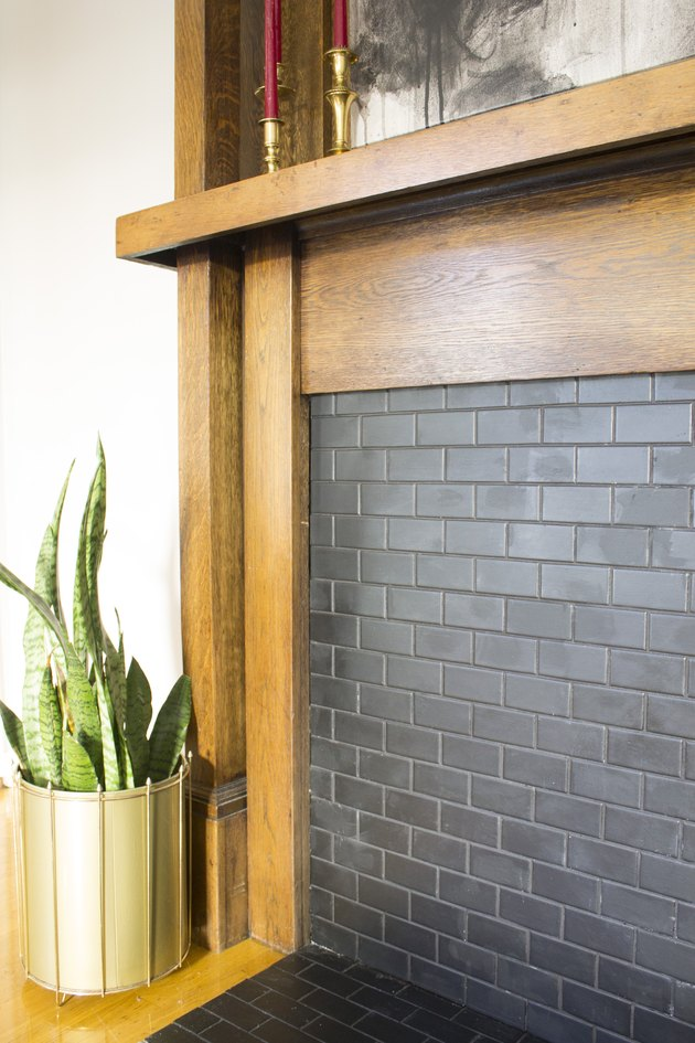 Attach Tiled Backerboard to the Mantel