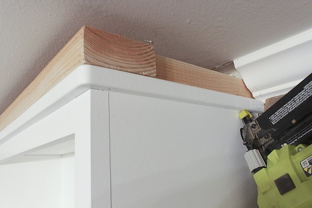 Attaching crown molding anchor