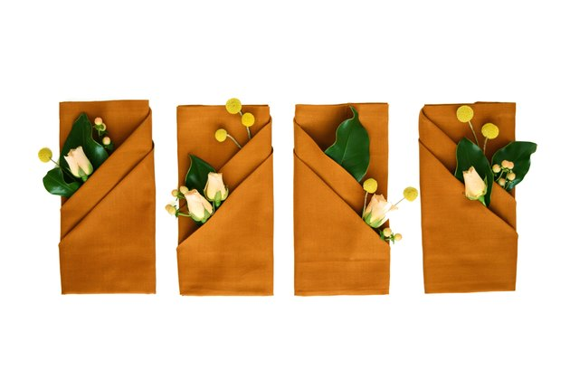 Napkins with flowers