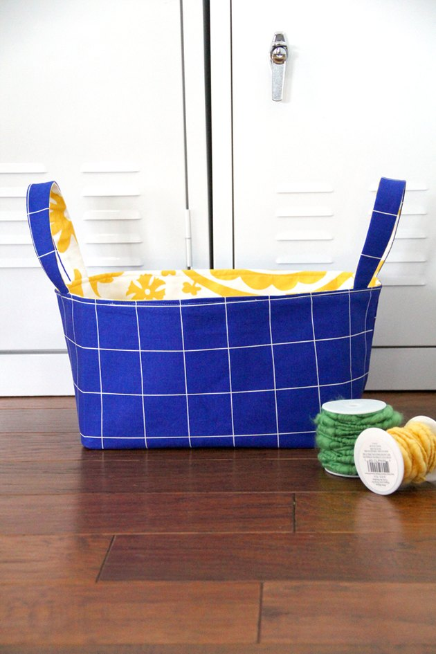 Make a fabric basket in under an hour