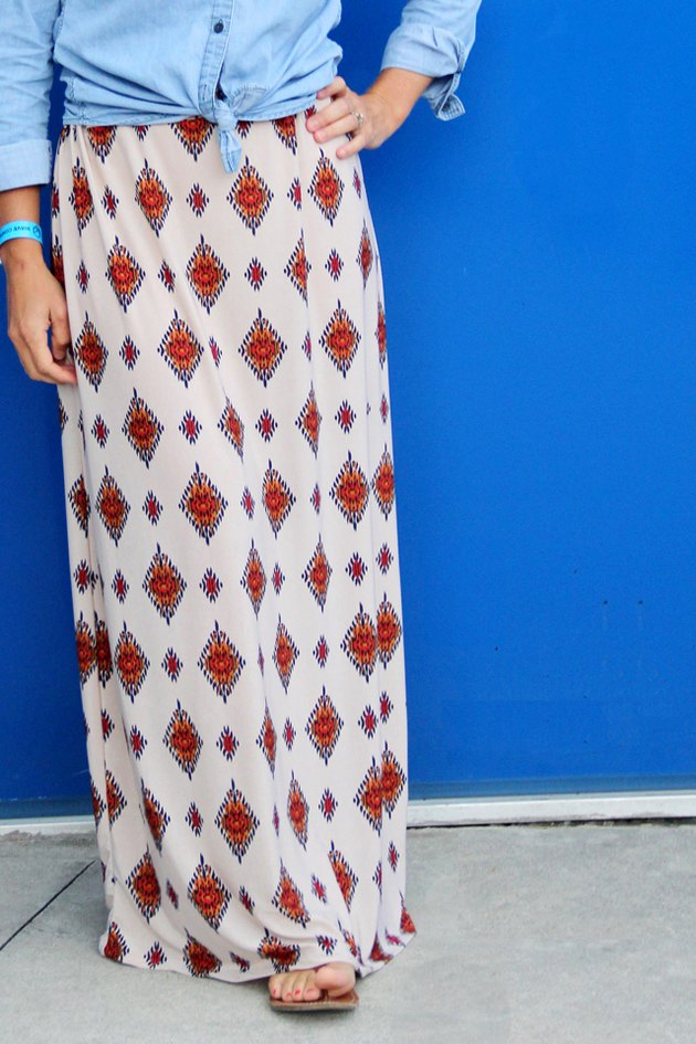 Simple maxi skirt DIY