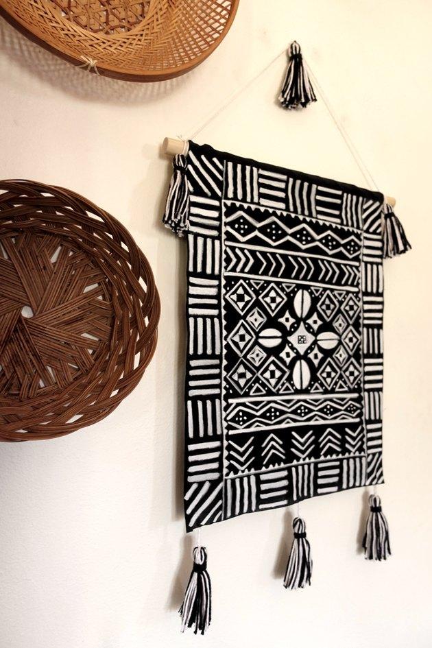 DIY Mud cloth-Inspired Wall Hanging