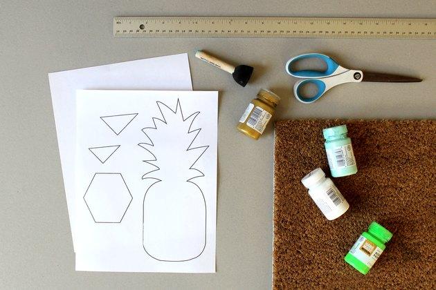 Supplies for DIY Pineapple Doormat