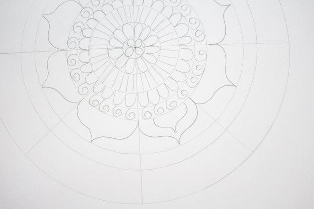 Drawing petals.