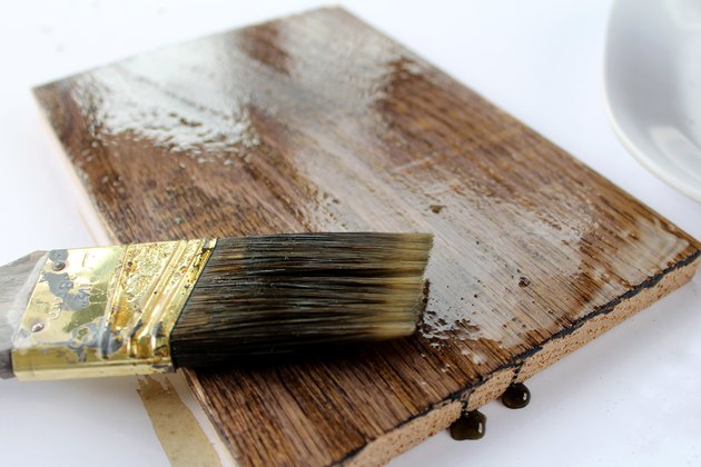 how to stain wood with coffee grounds | making bookends