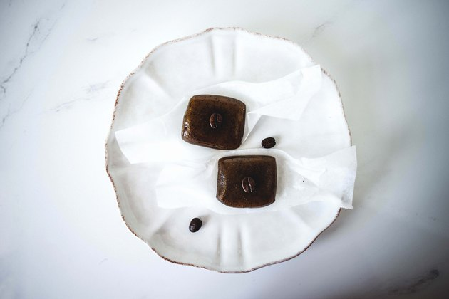 Caramels ready to be eaten and enjoyed.