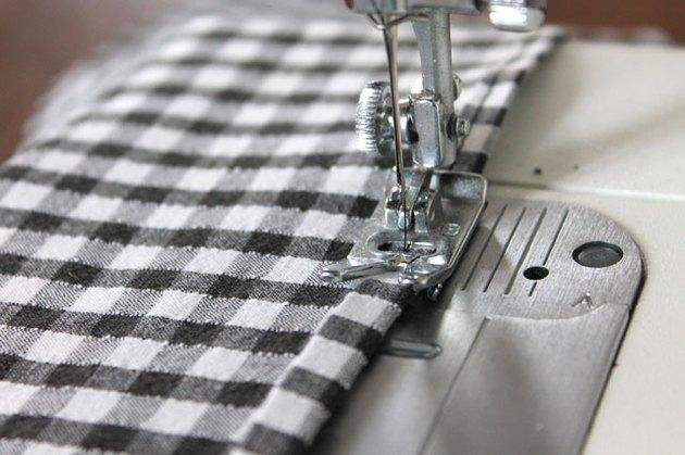 sew long edge of ruffle