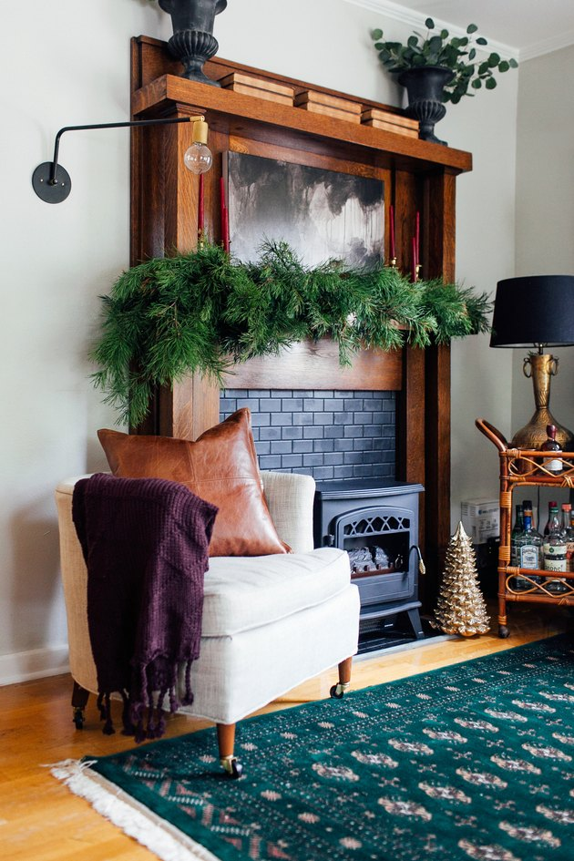 Renter-Friendly Fireplace