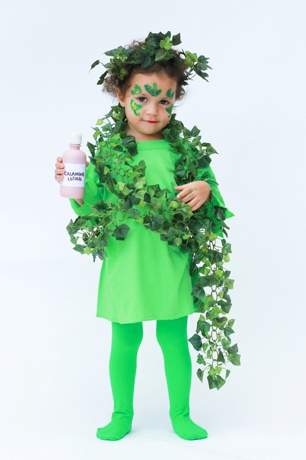 Girl in Poison Ivy Costume