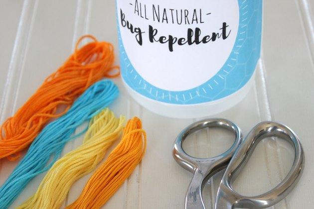 materials needed for bug repellent bracelet
