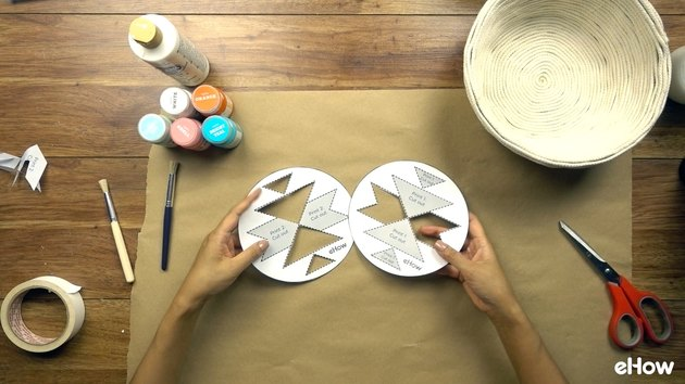 Cutting stencils for DIY desert-style baskets.