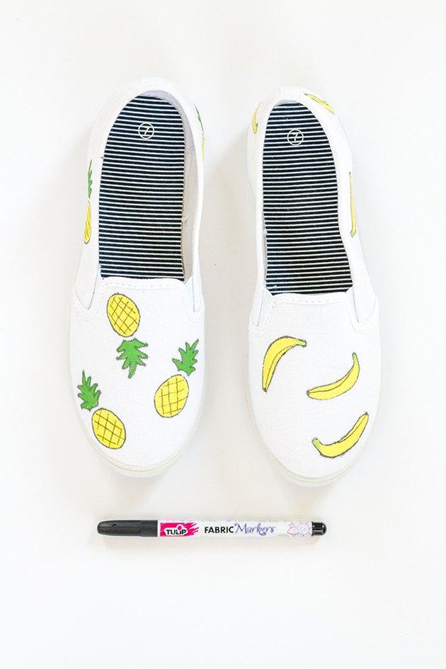 paint fruit shoes details