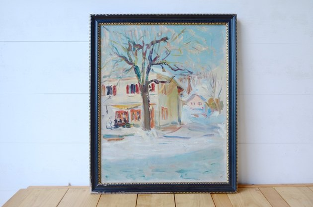 How to upcycle and repurpose dated thrift store artwork.