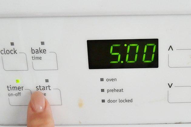 set timer for 5 minutes