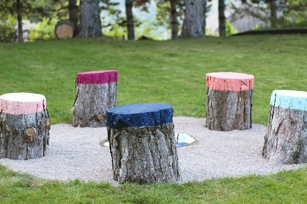 Colorful Stump Seats