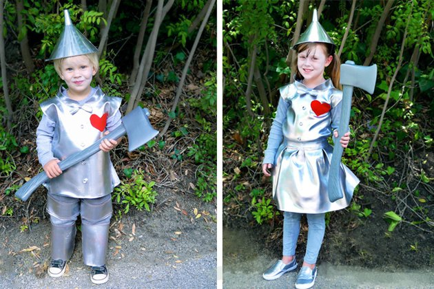 boy and girl versions of tin man costume