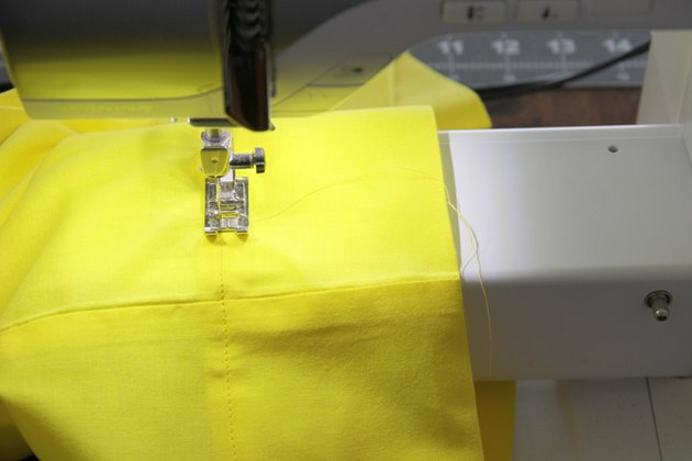 Sew around to hem pillowcase