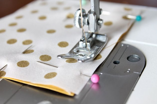 Sew a 1/2-inch seam around the square leaving an opening in one side.
