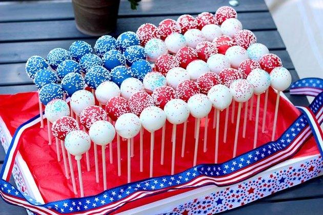 cake pop flag centerpiece