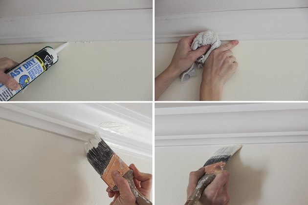 Caulking and painting crown