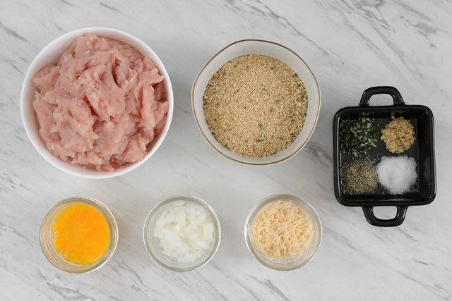 Ingredients for rosemary turkey meatballs