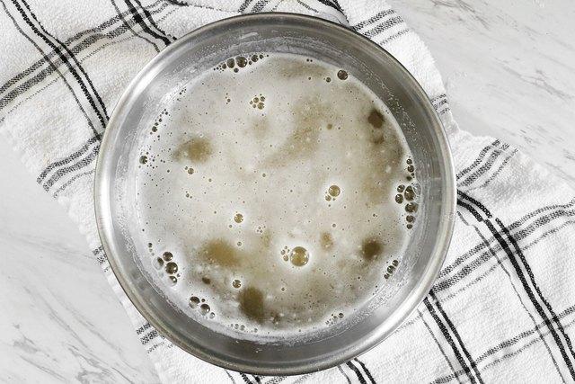 Mix champagne and club soda