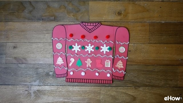 Decorating paper template for Ugly Christmas Sweater Gift Wrap