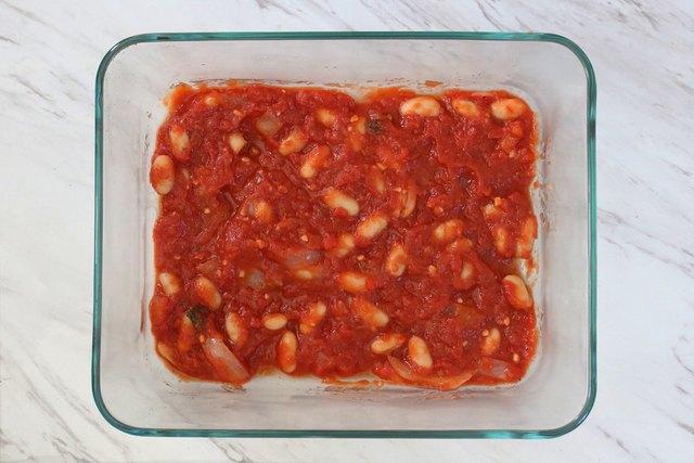 Layer tomato sauce